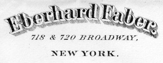 Eberhard Faber 1882 Name Logo