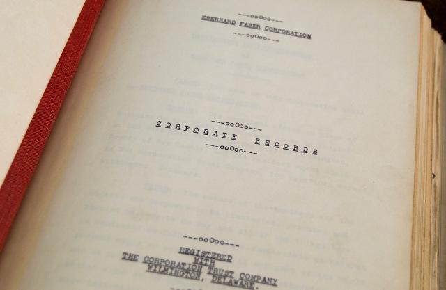 EBerhard Faber Company - Corporate Records