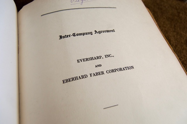 EBerhard Faber Company - Sharp Agreement