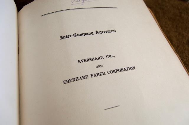 EBerhard Faber Company - Sharp Agreement
