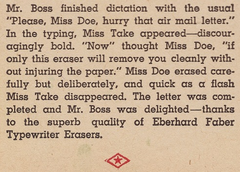 Eberhard Faber Miss Take Text